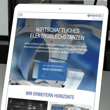 Feintool Website Mockup