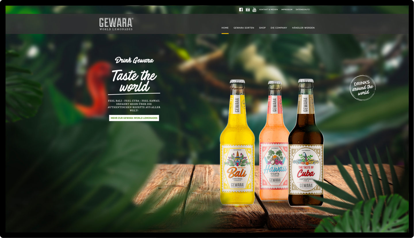 Gewara Website Mockup