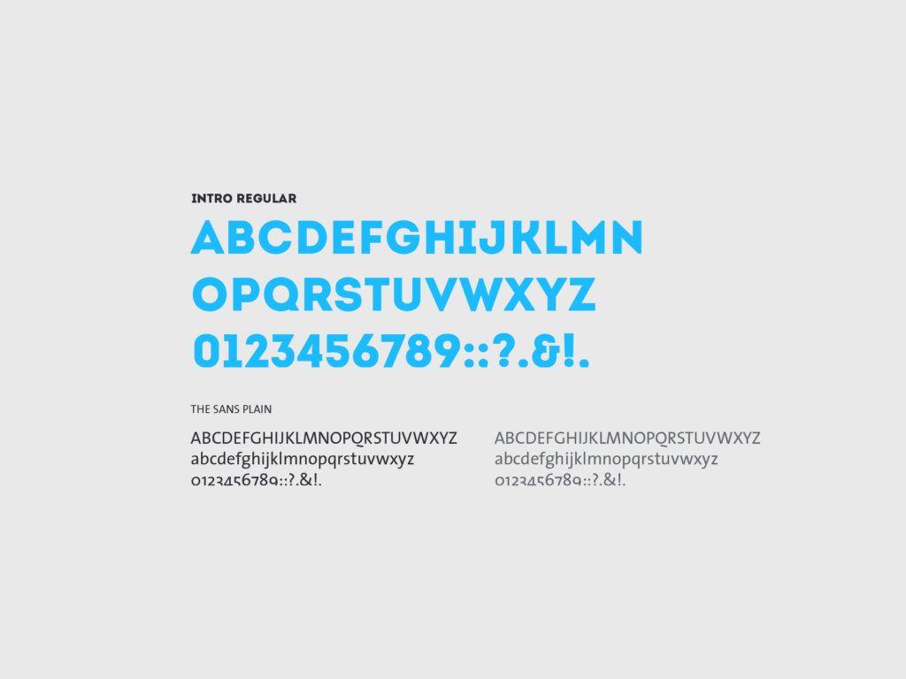 Dallmeier Typografie und Farbgebung