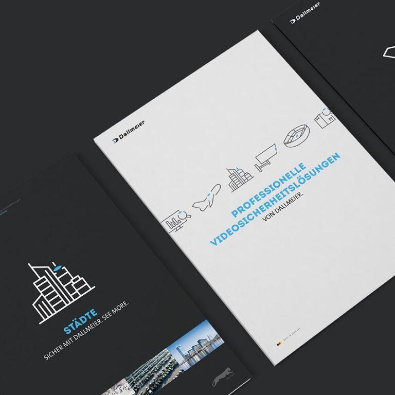 Dallmeier Branchenbroschüren mit neuem Corporate Design