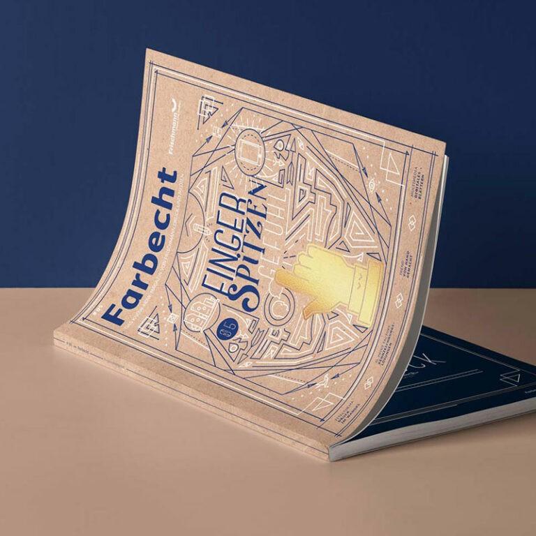 Frischmann Druckmagazin mit Veredelung